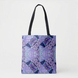Purple Moth Wings Tote Bag
