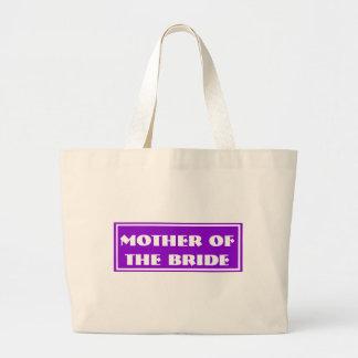 Purple Mother of the Bride Wedding Jumbo Tote Bag