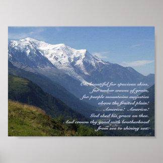 Purple Mountain's Majesty Poster
