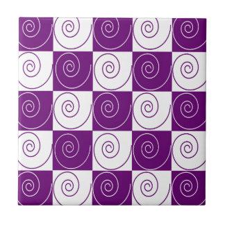 Purple Mousey Tails Tile
