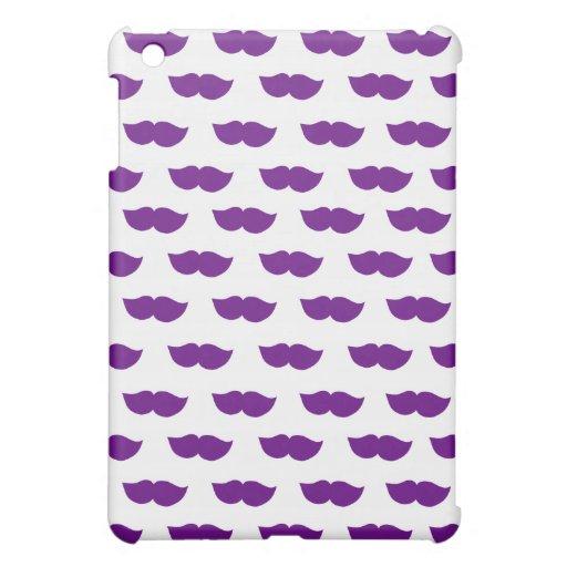 Purple Moustaches Case For The iPad Mini