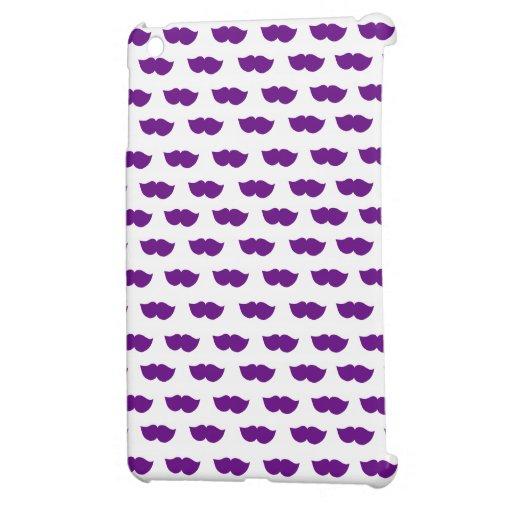 Purple Moustaches iPad Mini Cases