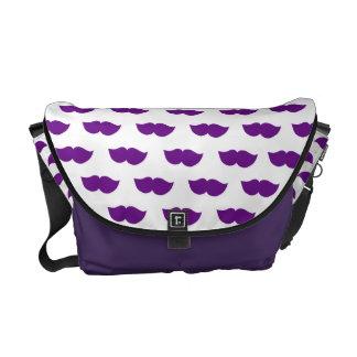 Purple Moustaches Commuter Bag