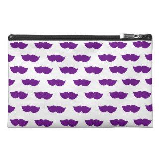 Purple Moustaches Travel Accessories Bag