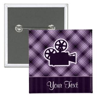 Purple Movie Camera Pins