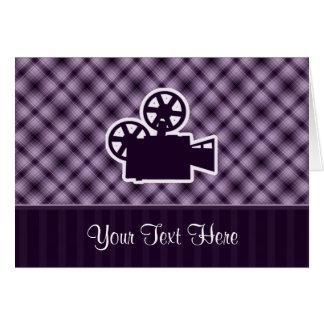 Purple Movie Camera Greeting Card