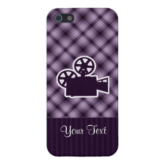 Purple Movie Camera iPhone 5 Covers