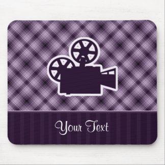 Purple Movie Camera Mouse Pad