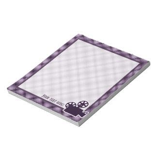 Purple Movie Camera Notepads