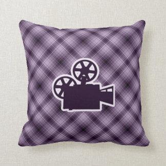 Purple Movie Camera Pillow