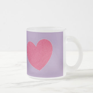 purple mug with pink heart
