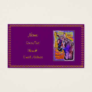 Purple Multi-Colored Horse Business Card
