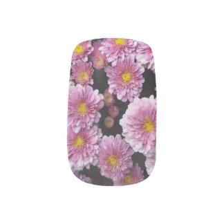 Purple Mum Flowers Nail Wraps