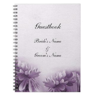 Purple Mums Notebook - Guestbook