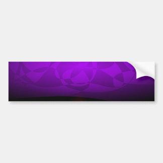 Purple Mushroom Bumper Sticker
