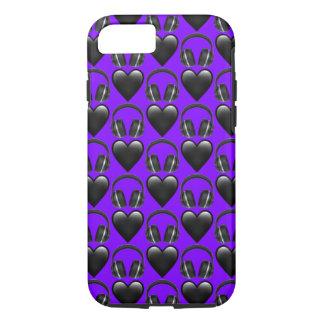 Purple Music Emoji iPhone 8/7 Phone Case