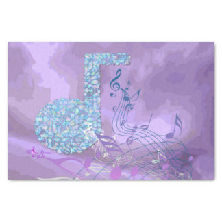 Purple Music Notes Abstract Tissue Paper/One Sheet