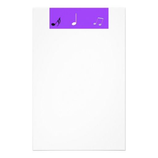 Purple Music Stationery