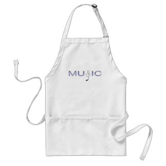 Purple Music with Note for Music Lovers Standard Apron