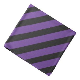 Purple 'n Black Pirate Stripes Bandana