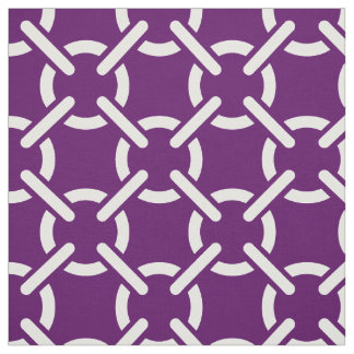 Purple Nautical Links Print Pattern Fabric