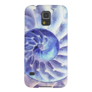 Purple Nautilus Art Galaxy S5 Cover