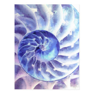 Purple Nautilus Art Postcard
