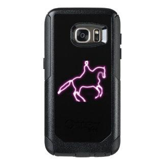 Purple Neon Dressage Horse Phone Case