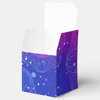 Purple neon mandala pattern favour box