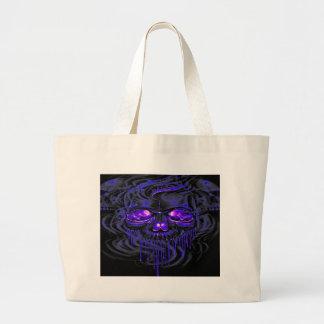 Purple Nerpul Skeletons Large Tote Bag