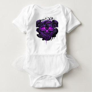 Purple Nerpul Skeletons PNG Baby Bodysuit