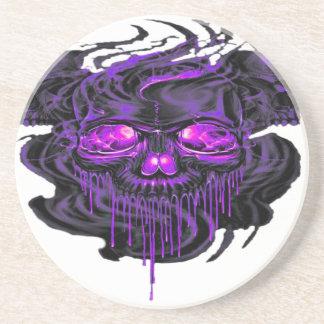 Purple Nerpul Skeletons PNG Coaster