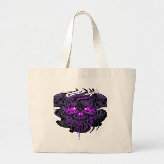 Purple Nerpul Skeletons PNG Large Tote Bag