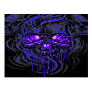 Purple Nerpul Skeletons Postcard