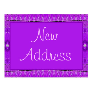 purple new address postcard