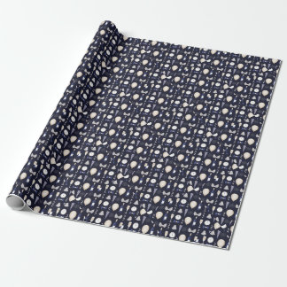 purple new years day wrapping paper