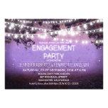 purple night & garden lights engagement party
