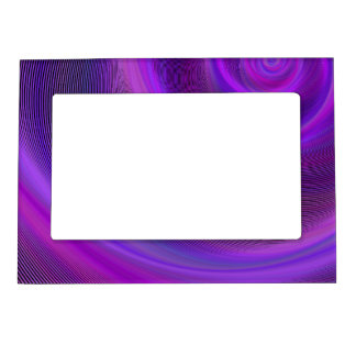 Purple night storm magnetic picture frame