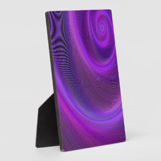 Purple night storm plaque