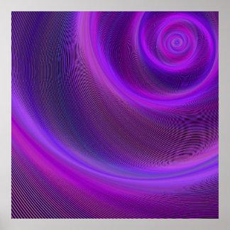 Purple night storm poster