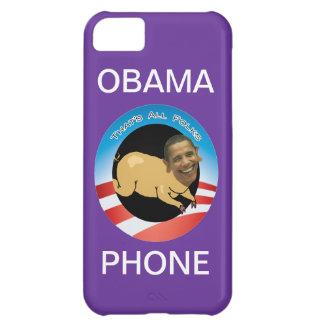 Purple Obama Phone iPhone 5C Case