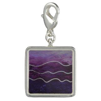 Purple Ocean - Acrylic Painting Bracelet Charm