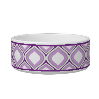Purple Ogee Small Ceramic Dog Bowl