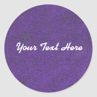 Purple Oil Pastel Circle Sticker | Customize