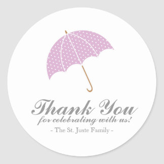 purple ombre BABY SHOWER personalized party favor Round Sticker