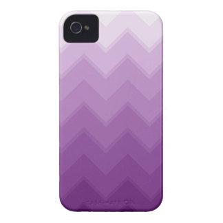 Purple Ombre Chevron Pattern iPhone 4 Case