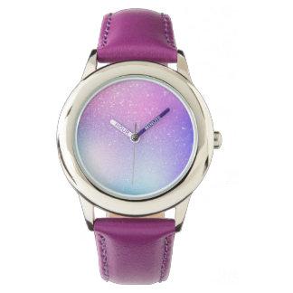 Purple ombre glitter sprinkles sparkles watch