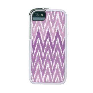 Purple Ombre Ikat Chevron Zig Zag Stripes Pattern iPhone 5 Case