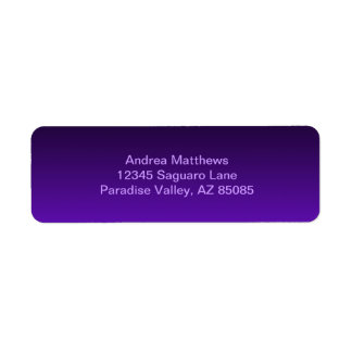 Purple Ombre Return Address Label