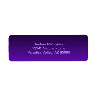 Purple Ombre Return Address Label